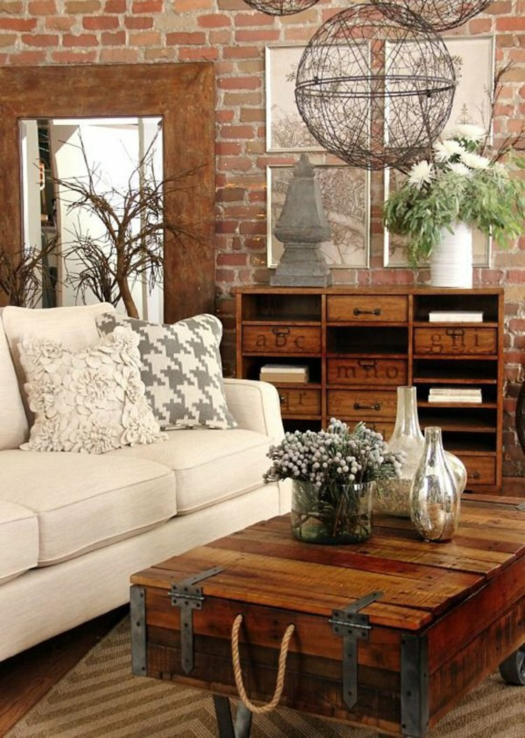 Attractive 16 Chic Details For Cozy Rustic Living Room Decor Design