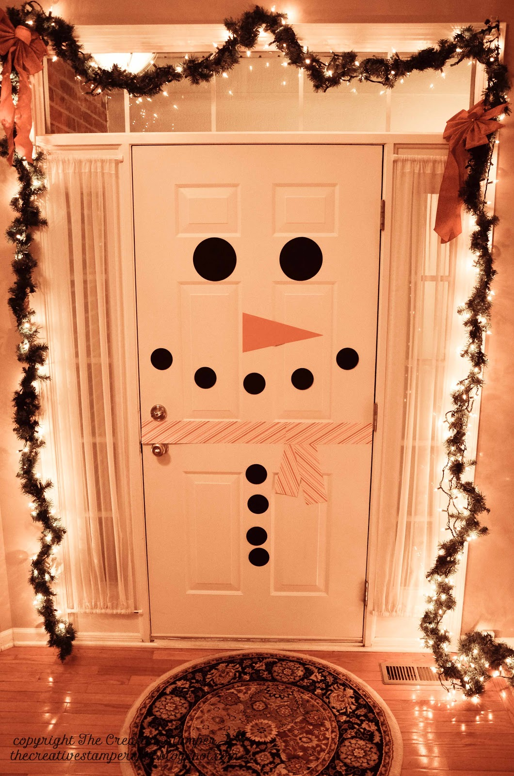 3 theres a snowman at the door - Indoor Christmas Decorations Ideas