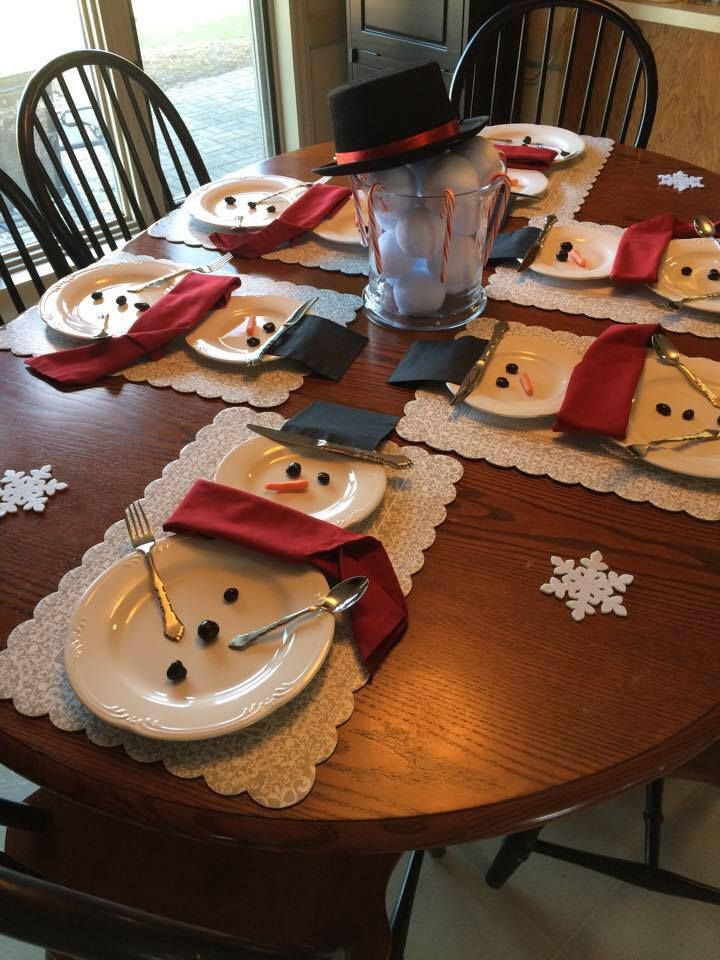 Snowman Table Settings