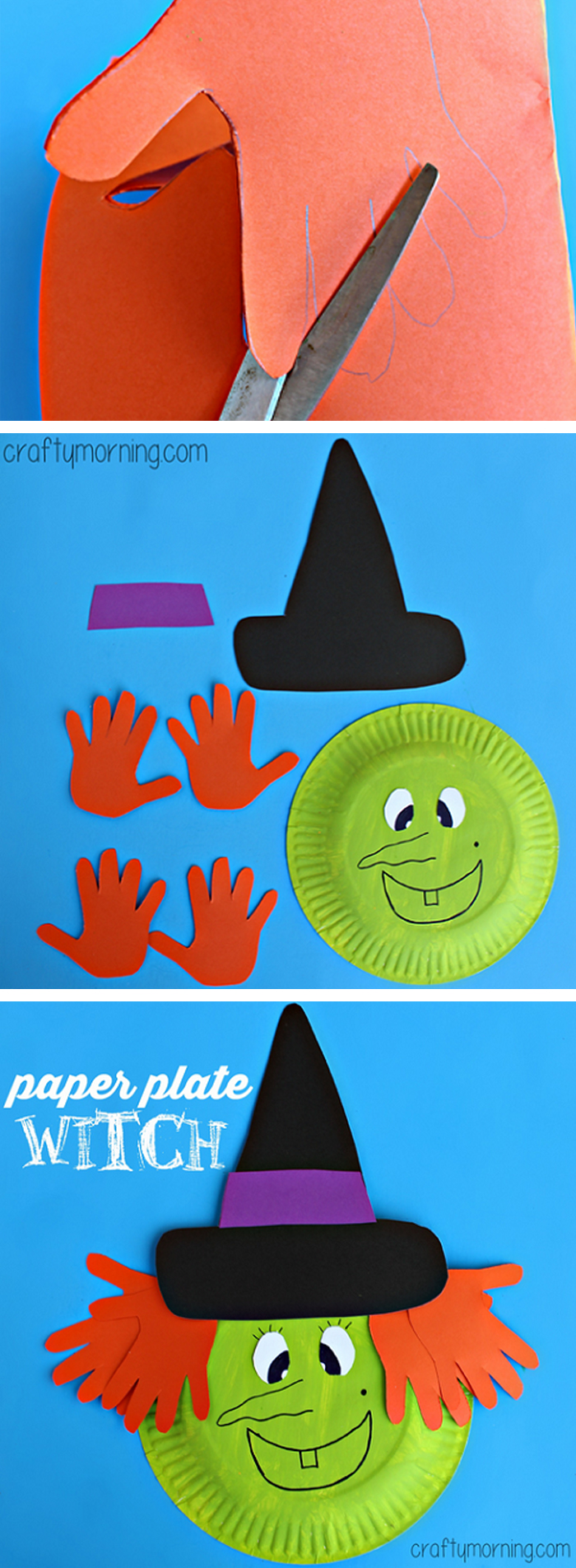 Hand Print Witch Paper Craft