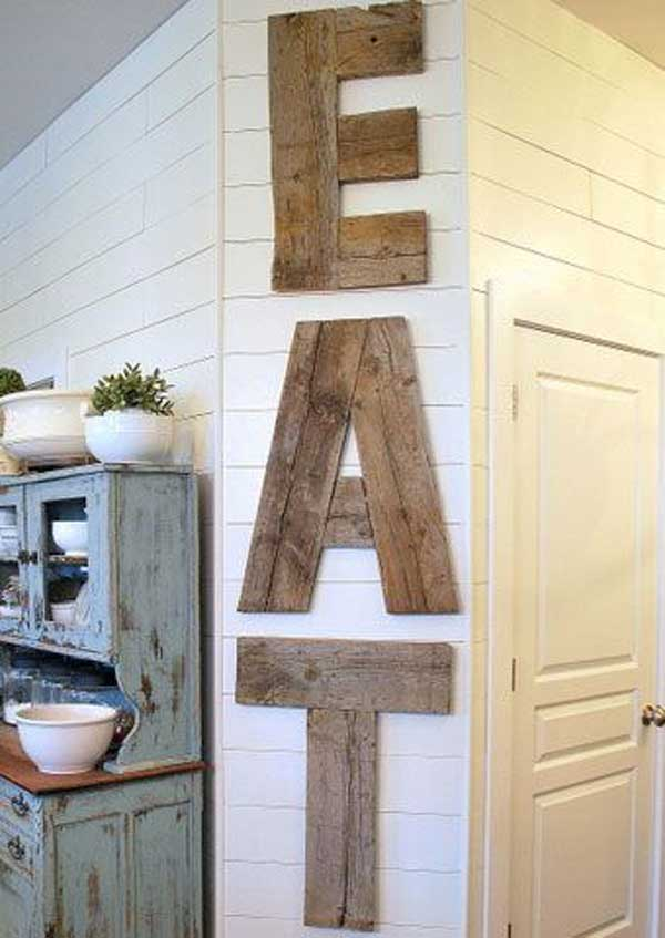4 Country Diner Barn Wood Kitchen Sign