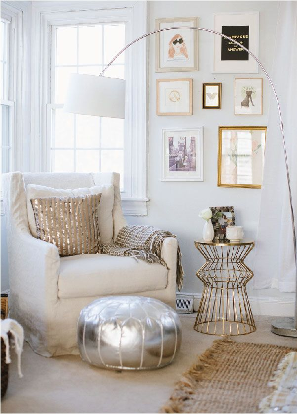Glam and Sophisticated All-White Room