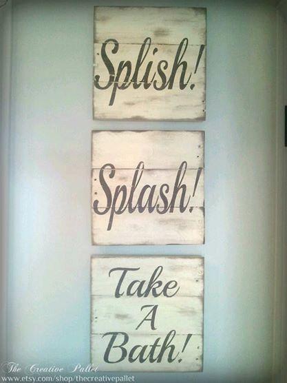 Bathroom Sign Trio