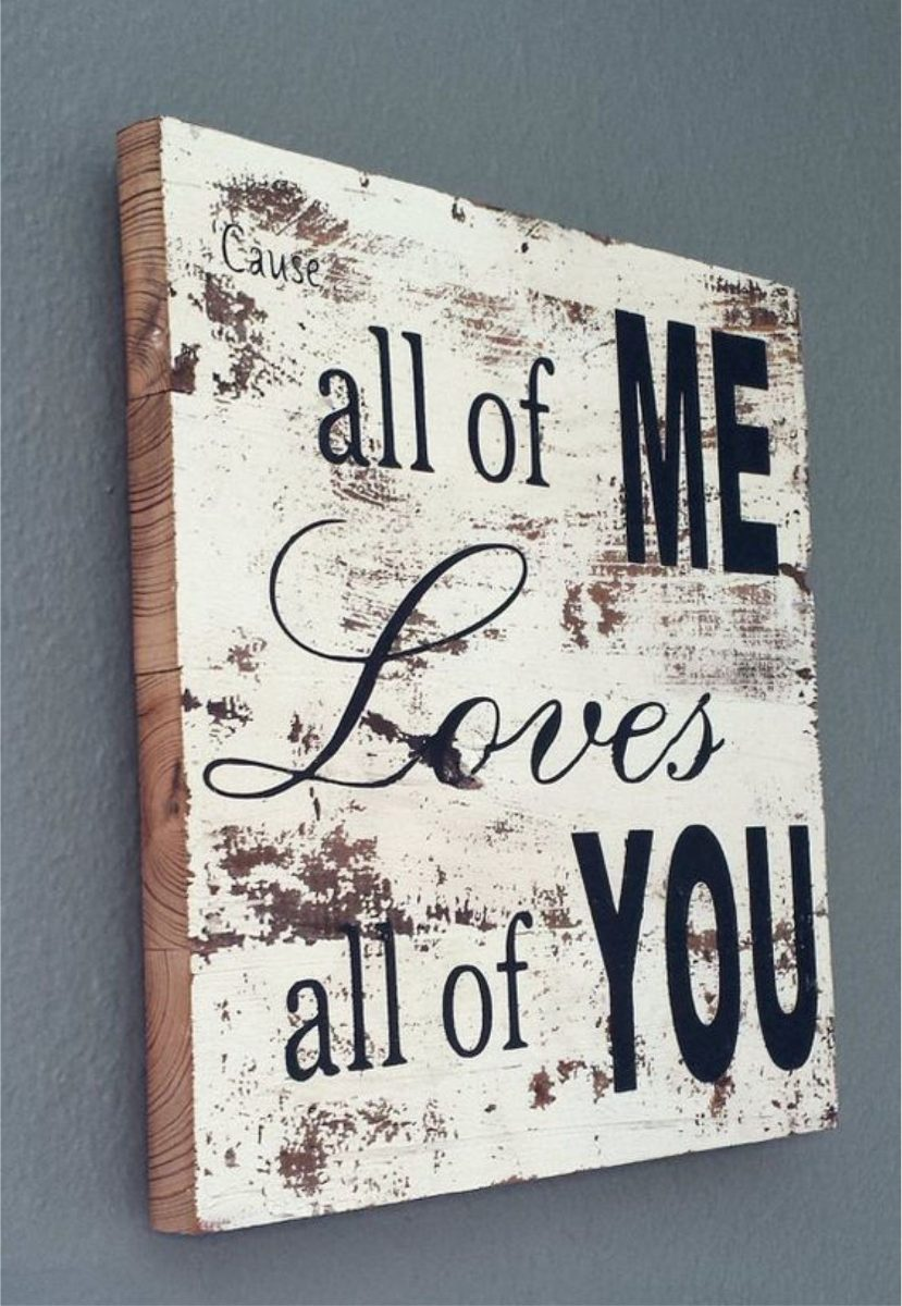 Sanded Paint Song Lyric Sign