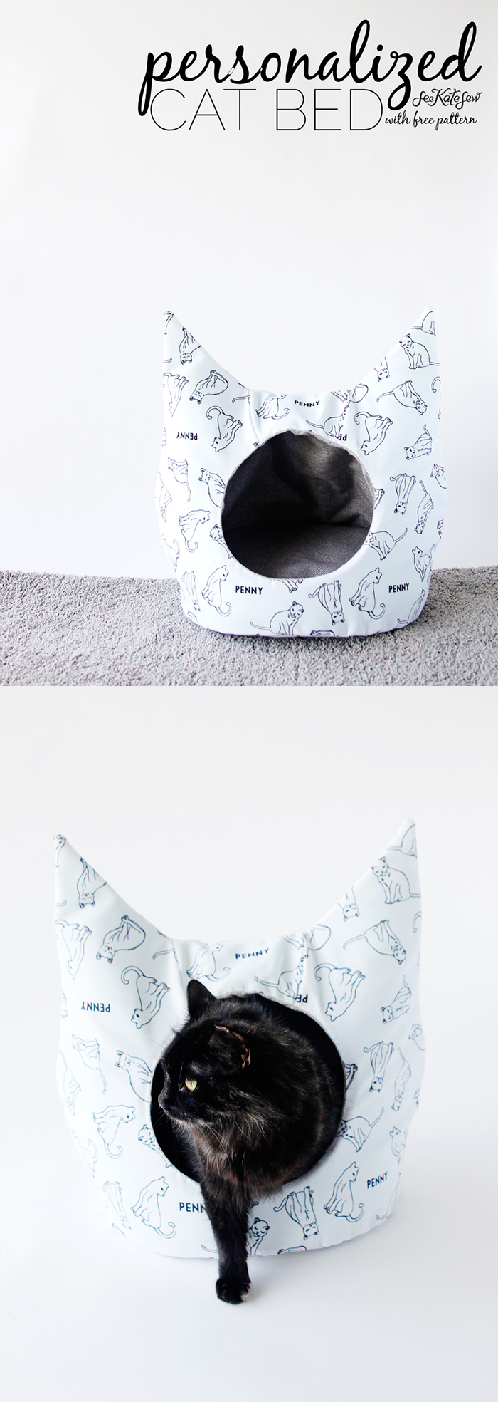 Quirky Cat-shaped Kitty Bed