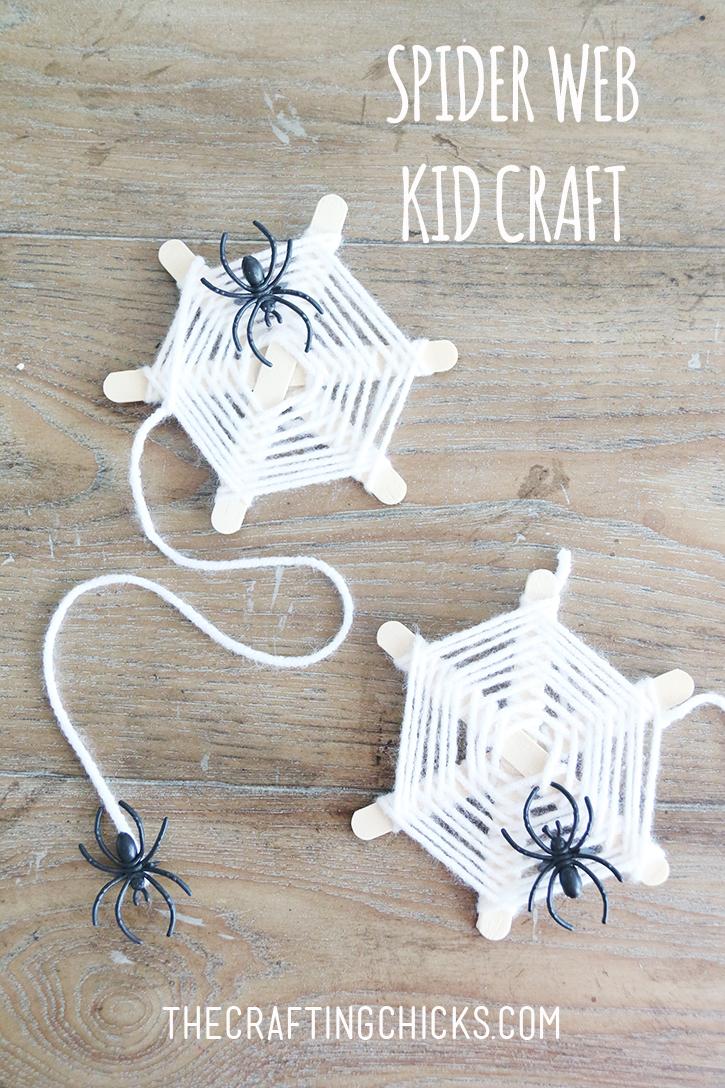 Woven Craft Stick Spider Webs