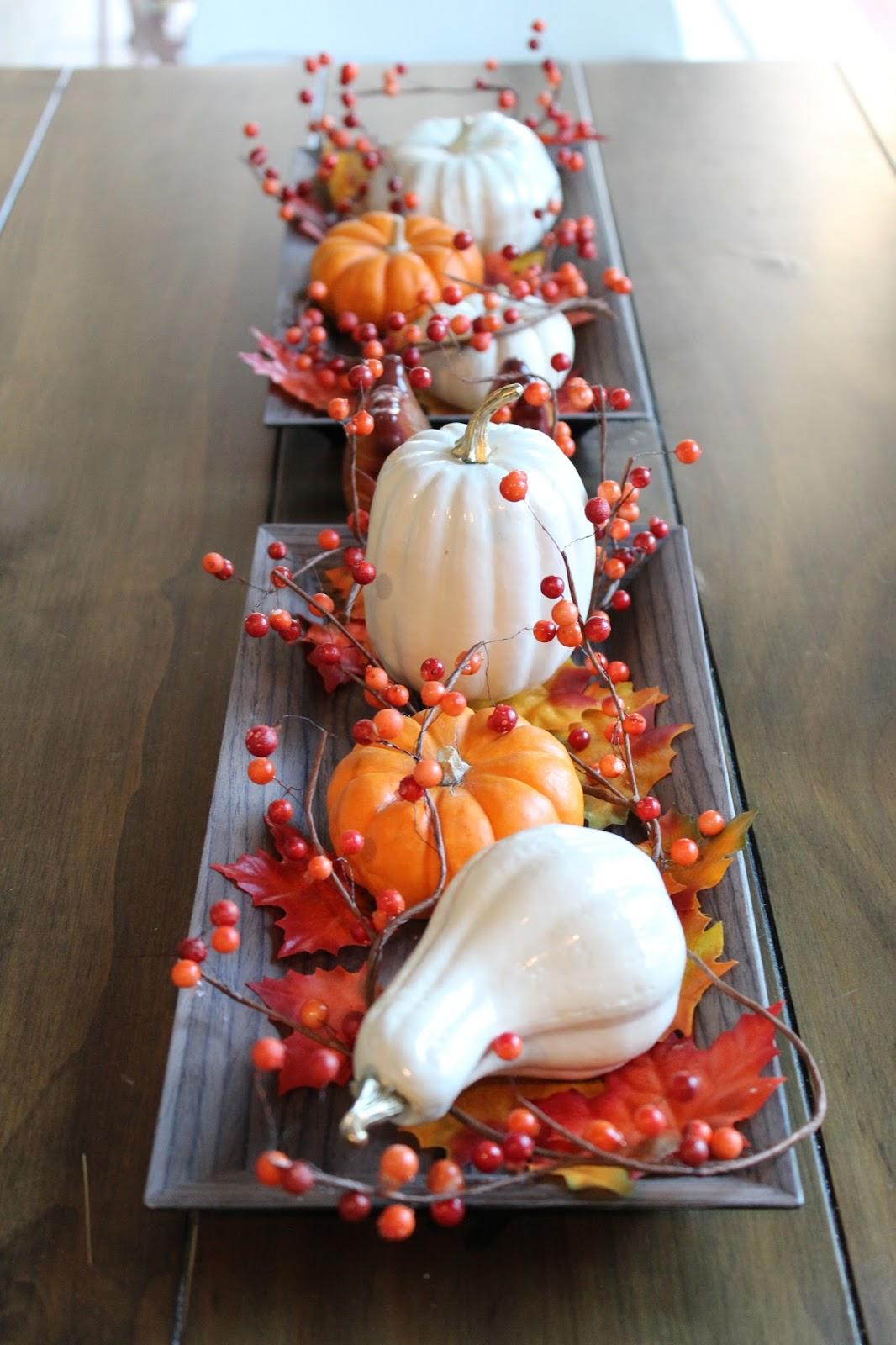 Amazing Harvest DIY Thanksgiving Centerpiece Design Featuring Gourds And Wild  Berries Part 24