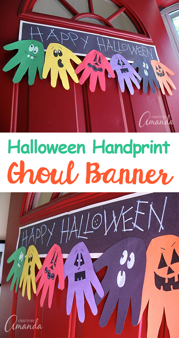Hand Print Halloween Banner
