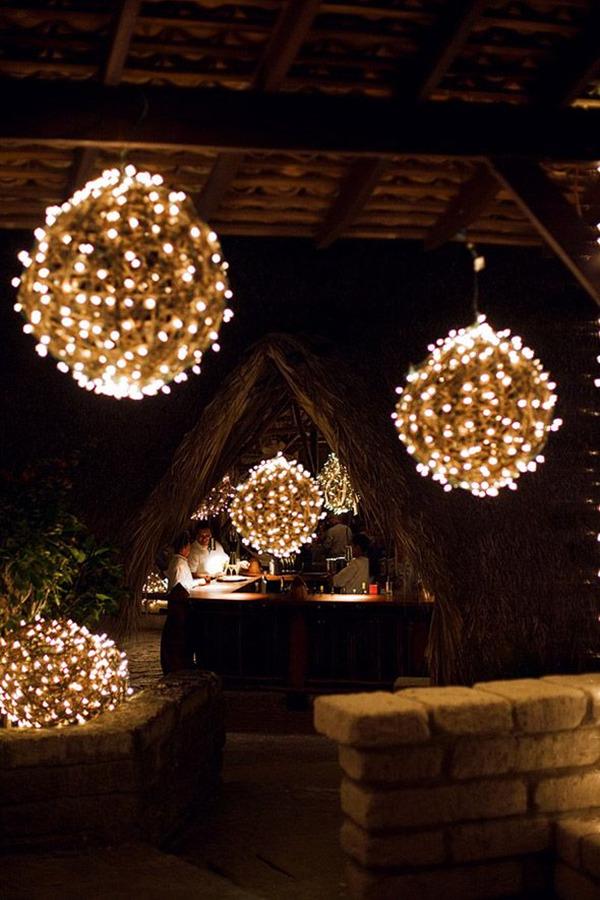Wrapped Globe Lights