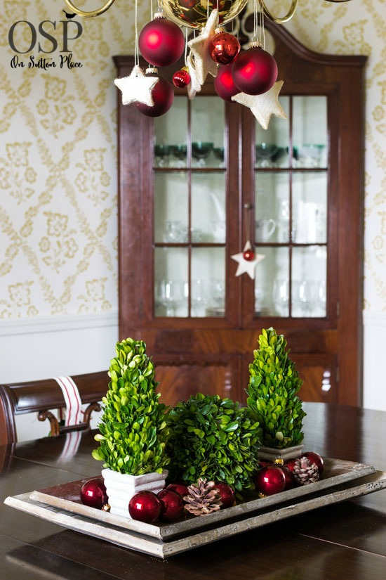 dining room decor ideas - Indoor Christmas Decorations Ideas