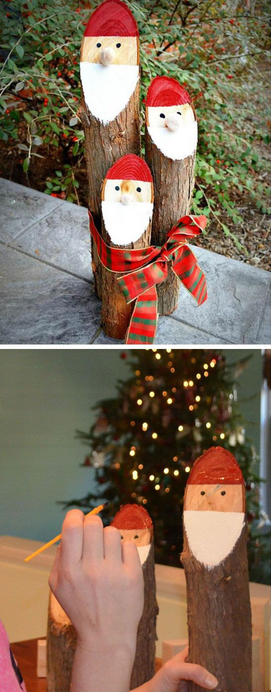 DIY Rustic Painted Logs