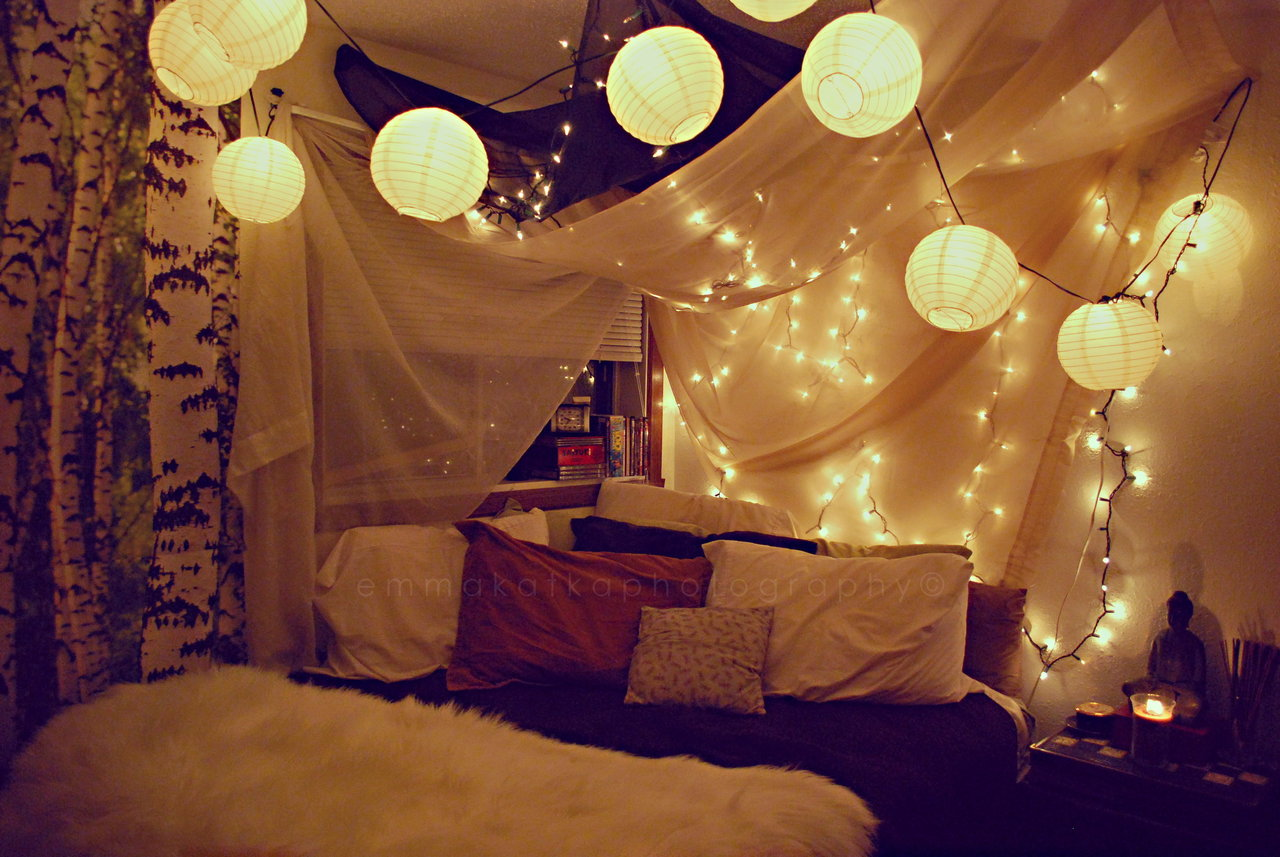 String Lights and Chinese Lanterns