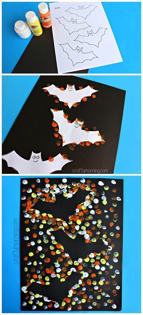 Flying Bat Resist Painting