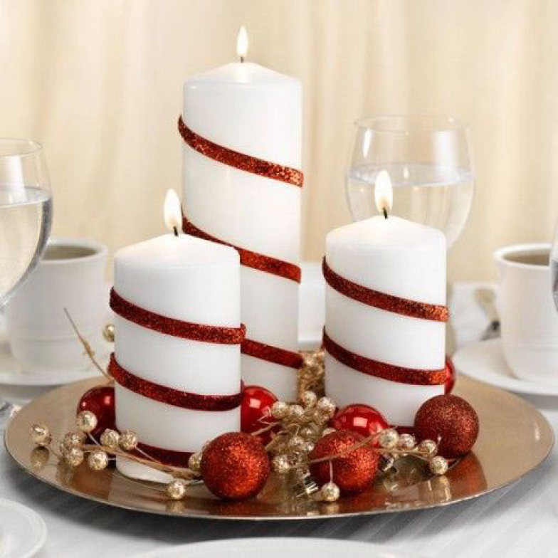 Wonderful 15. Candy Cane Candles
