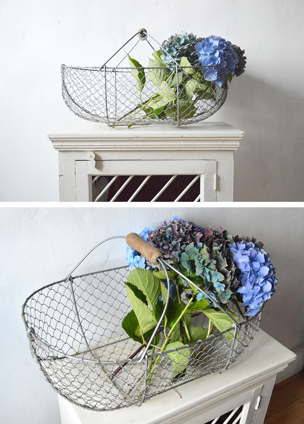 Large French Wire Storage Basket