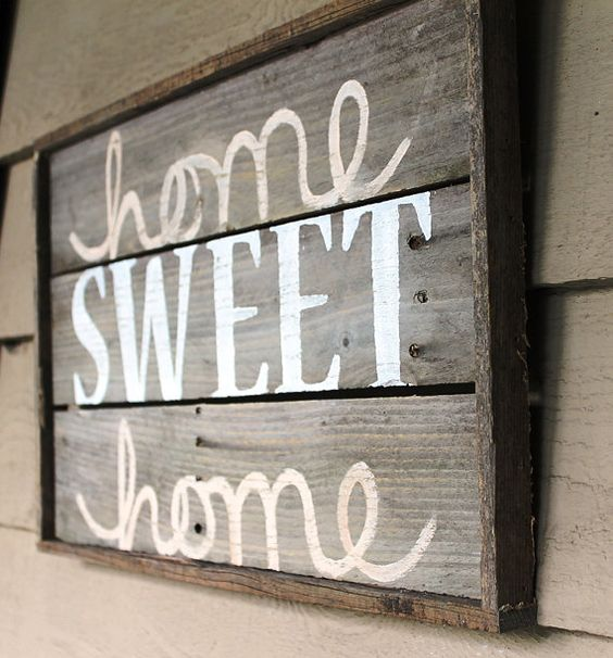 """Framed Lumber """"Home Sweet Home"""" Wall Hanging"""