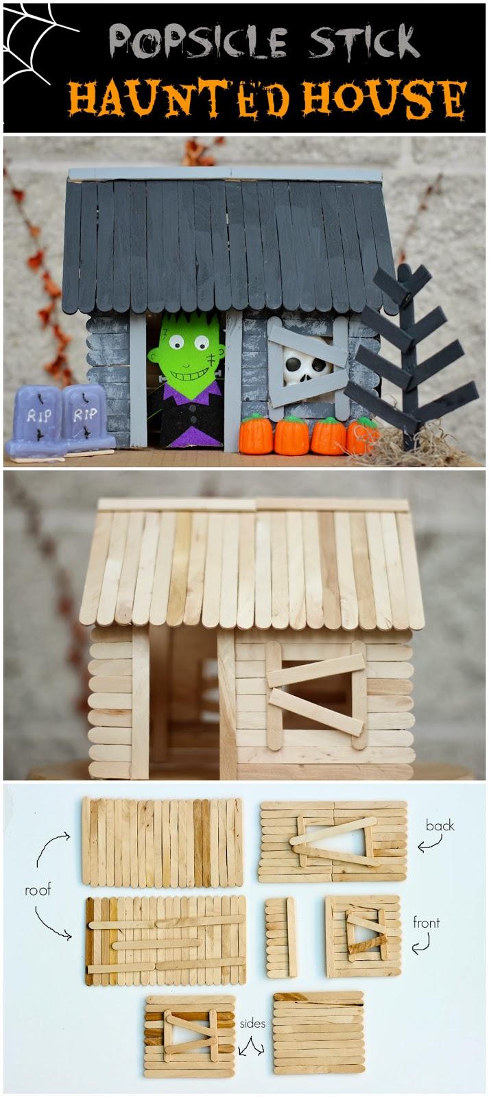 Haunted Halloween Craft Stick Cottage