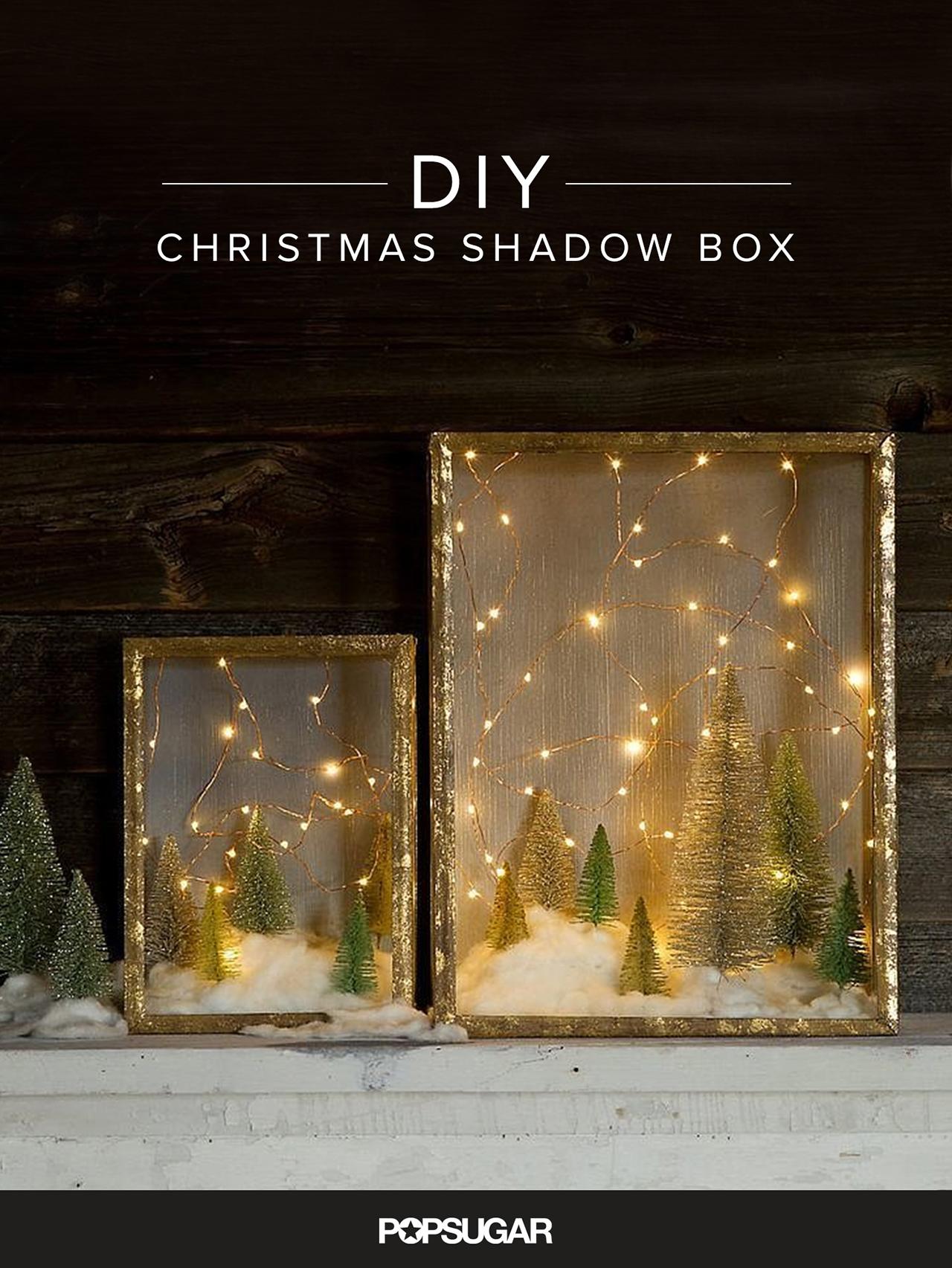 diy christmas shadow box display - Christmas Lights Decoration Ideas