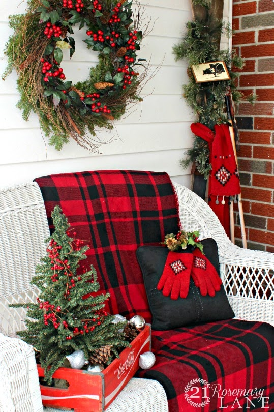 Christmas Wicker Loveseat