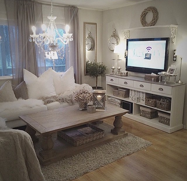 27 best rustic chic living room ideas and designs for 2018 for Grey shabby chic living room ideas