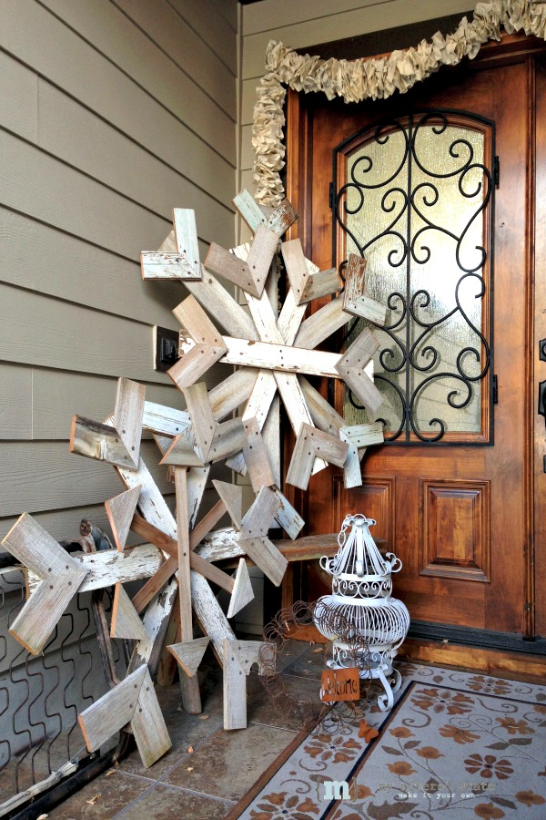 Recycled Wood Snowflakes