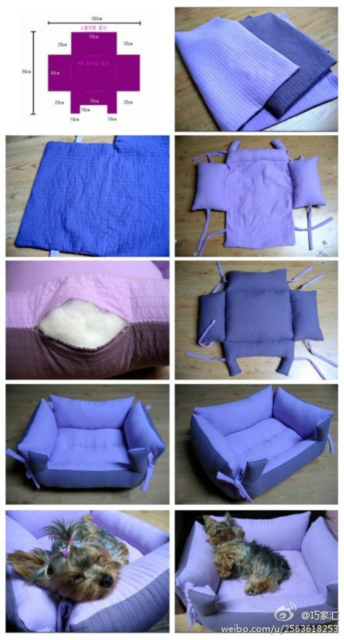 Sew-it-yourself Bolster Pet Bed