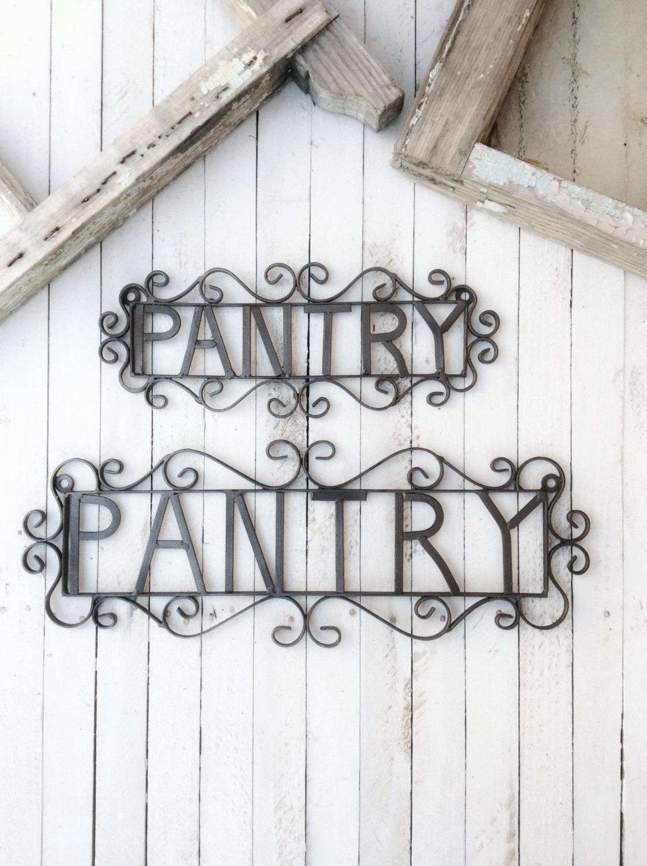 Metal Pantry Sign