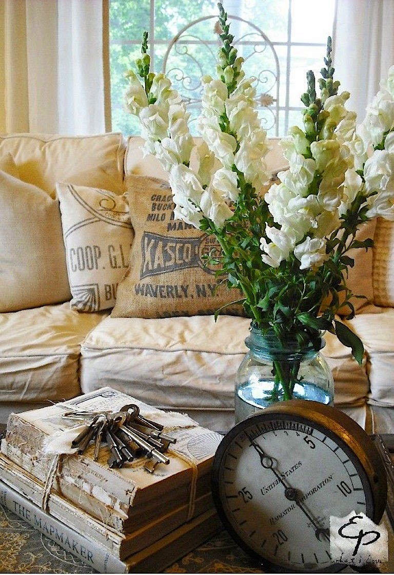 Shabby chic rustic living room - 22 Historian Of The Sea