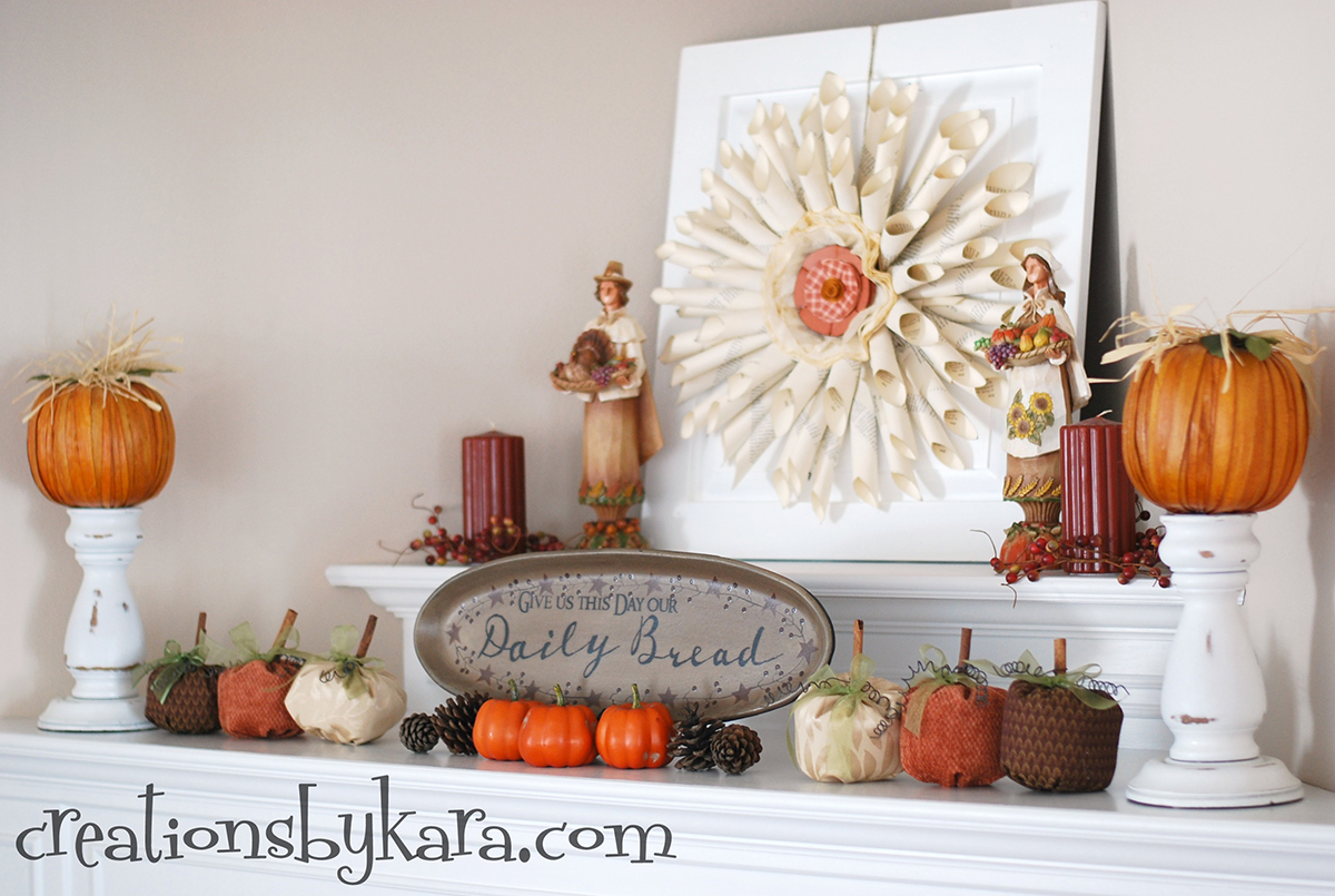 Designer Details with Fall Mantel Decorating Ideas