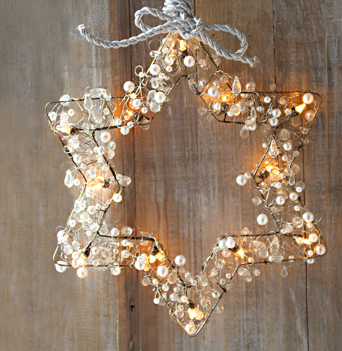 50 trendy and beautiful diy christmas lights decoration ideas in 2018 25 six pointed star wrapped wreath aloadofball Choice Image