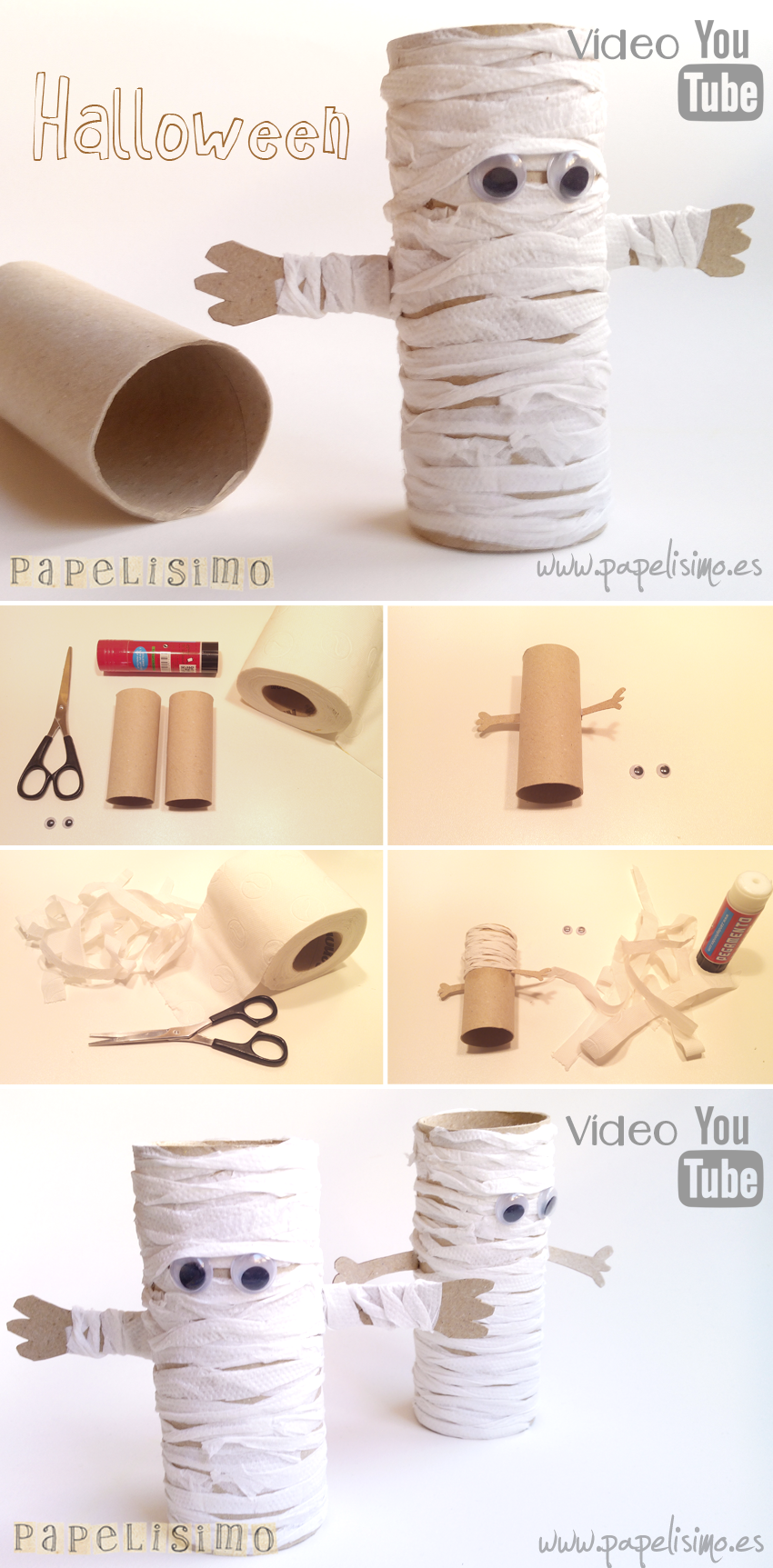 Toilet-paper Tube Mummies