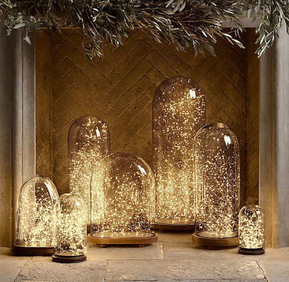 fairy lights under glass - Christmas Lights Room Decor