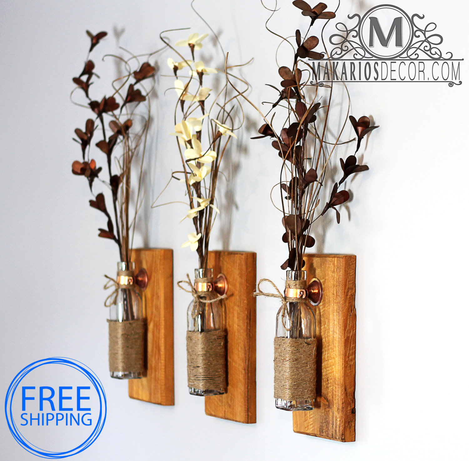Rustic Wall Vases