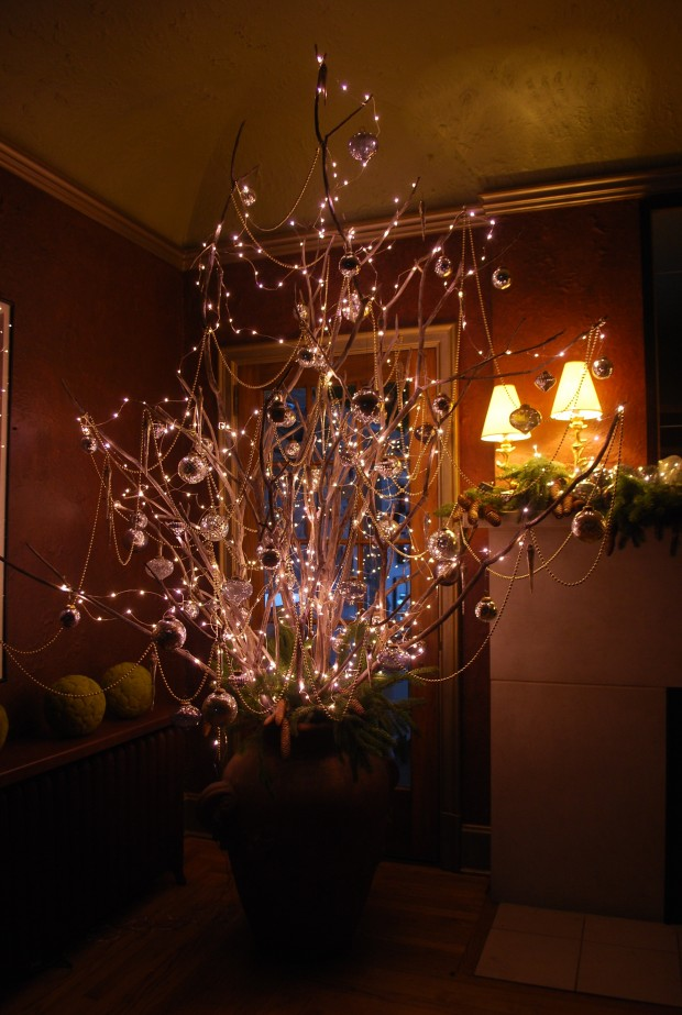 27 bare branch tree of lights - Lighted Christmas Decorations Indoor