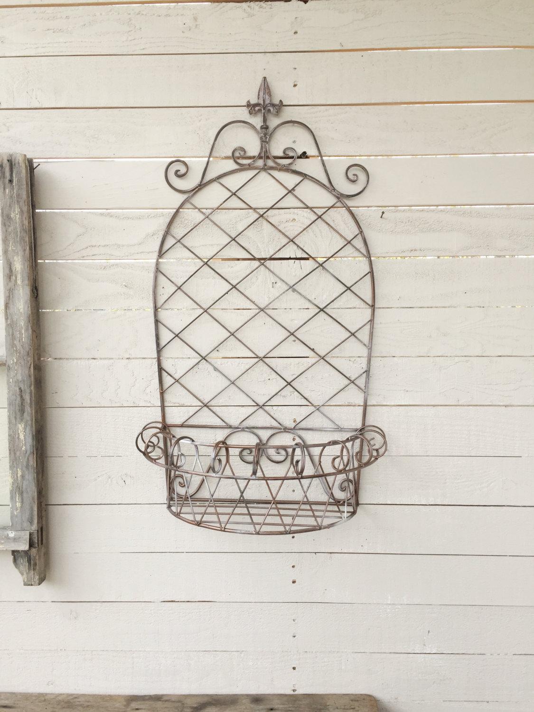 Wall Mounted Metal Basket
