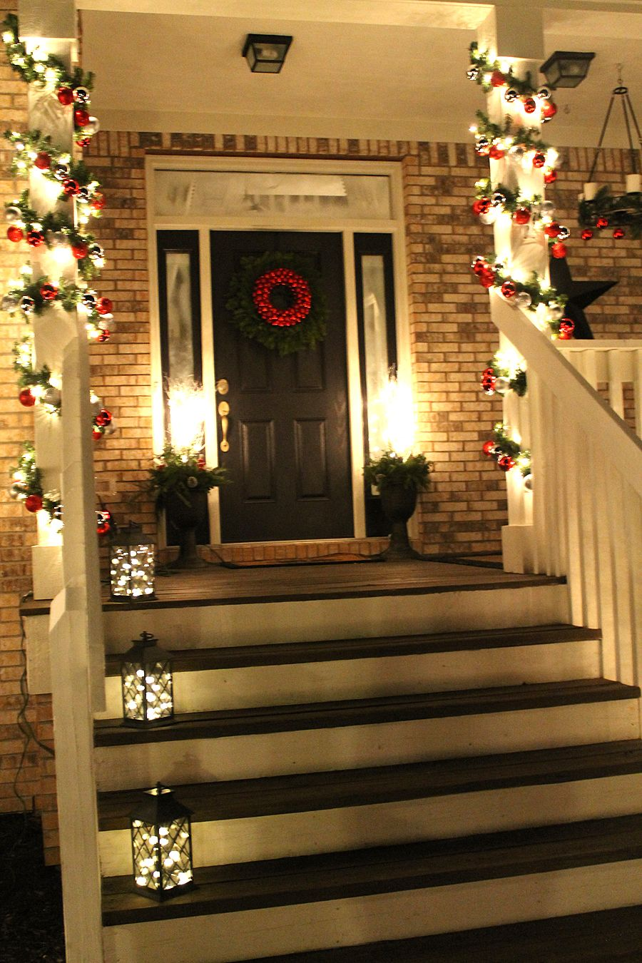 classic christmas column garlands - Christmas Column Decorations