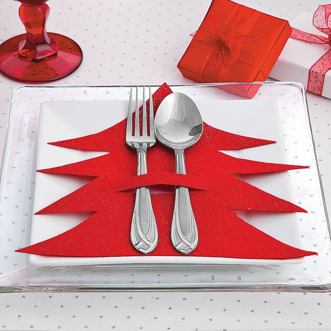 christmas tree cutlery - Christmas Table Decoration Ideas Easy
