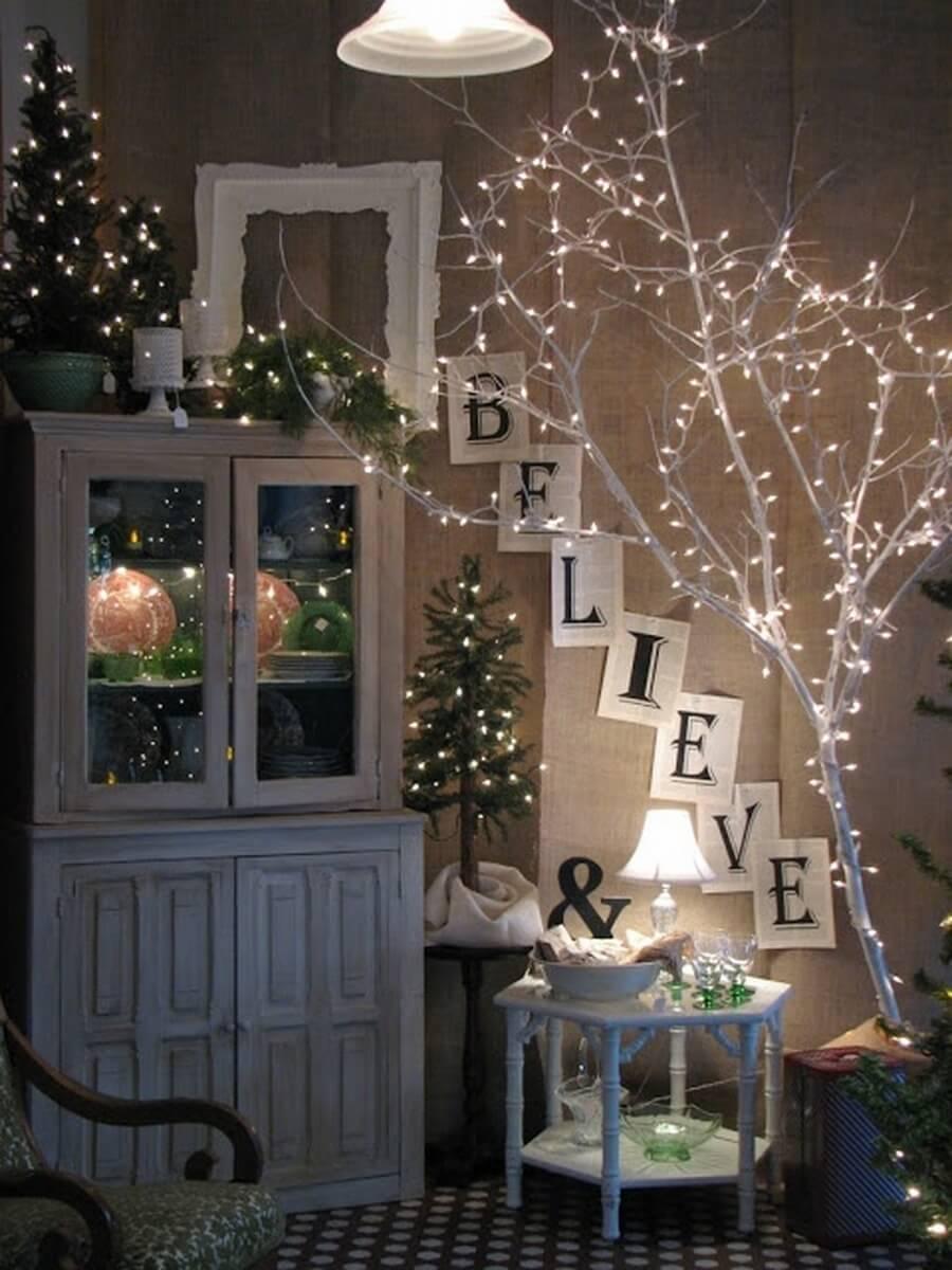 Corner Christmas Display