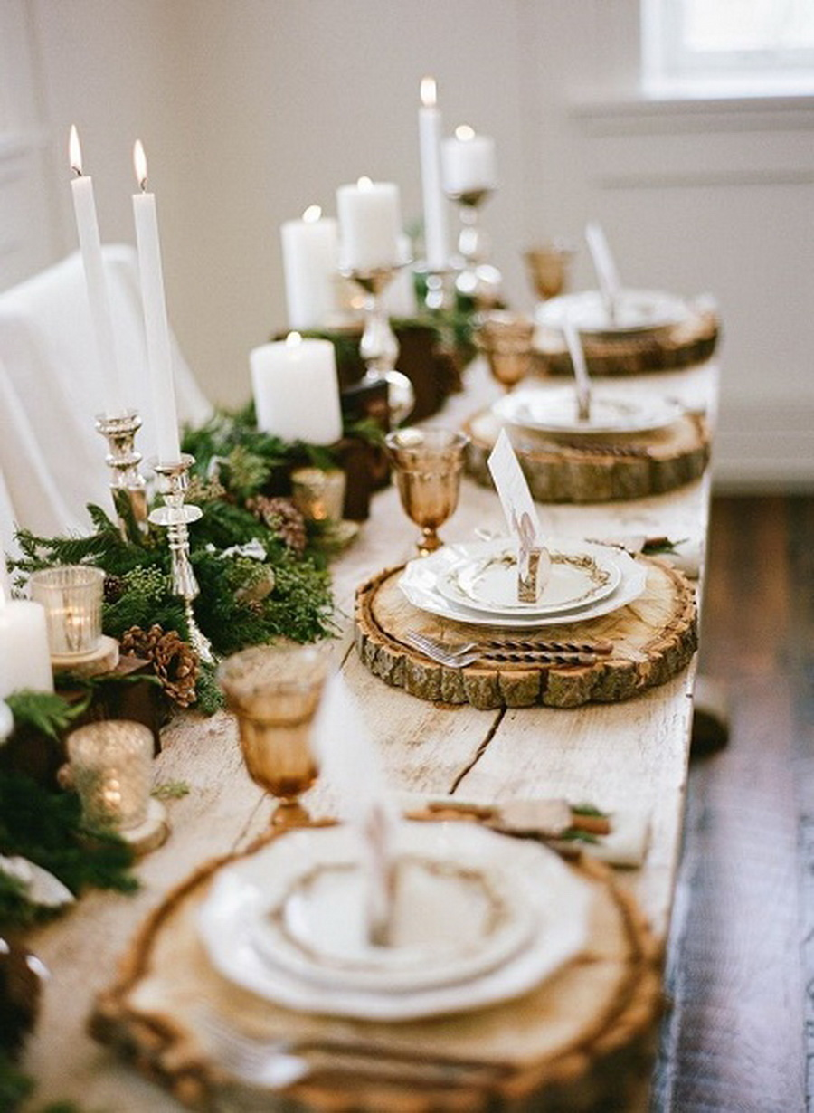 Diy christmas table decorations ideas - 35 Dine Out In The Forest