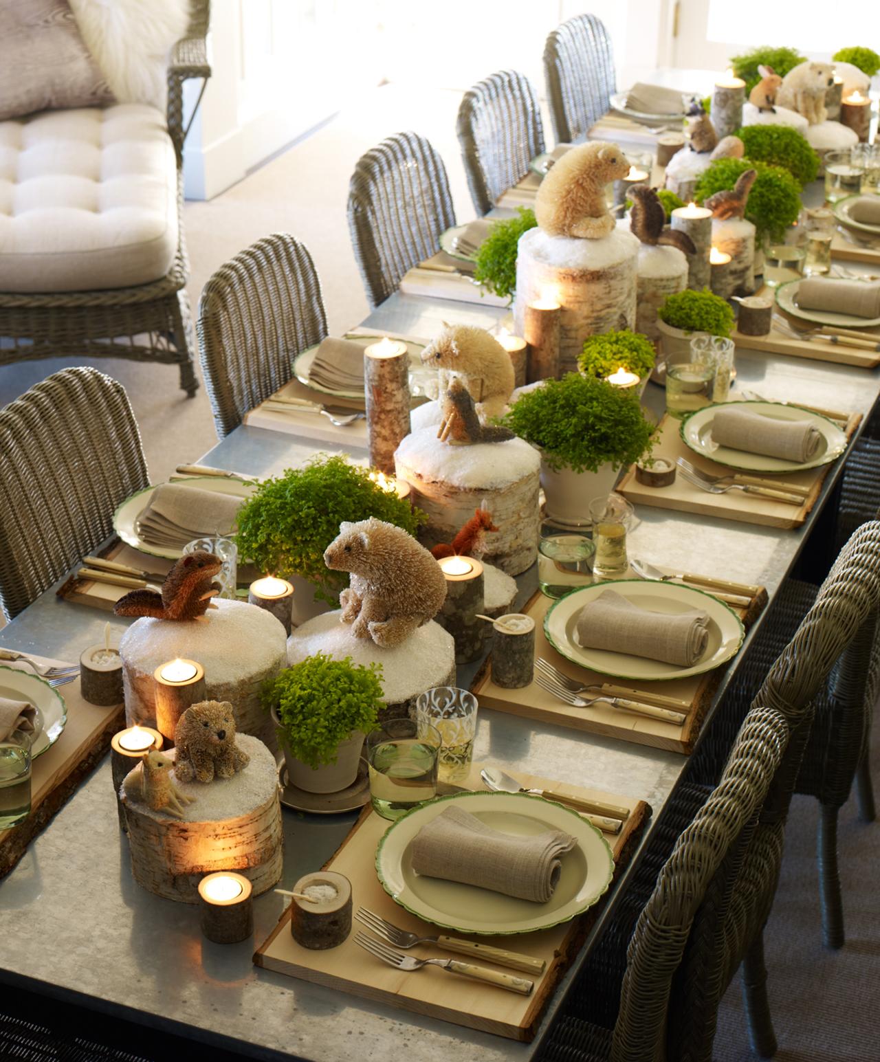 Diy christmas table decorations ideas - 39 Arctic And Urban Wonderland