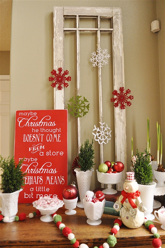 diy christmas creation - Indoor Christmas Decorations Ideas