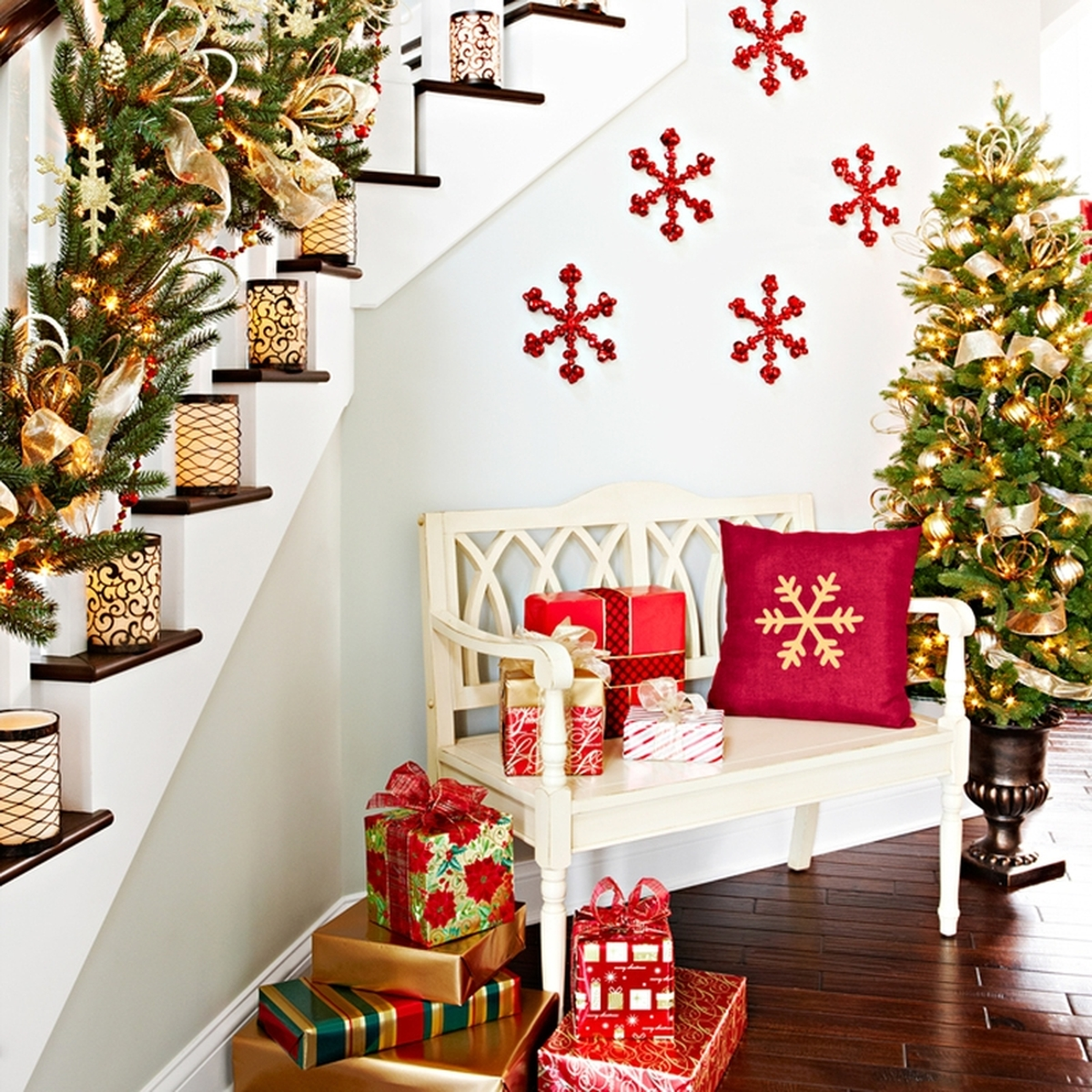 50 best indoor decoration ideas for christmas in 2019 - Adornos de navidad para el hogar ...