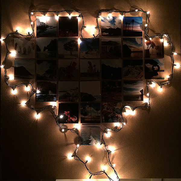 Christmas Lights Photo Collage Frame