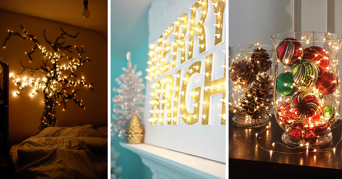 50 trendy and beautiful diy christmas lights decoration ideas in 2018 - Christmas Lights Indoor Decorating Ideas