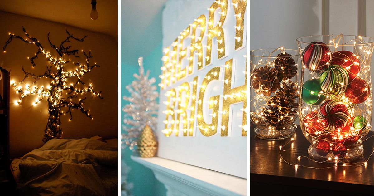 Decorating Ideas U003e 50 Trendy And Beautiful DIY Christmas Lights Decoration  ~ 190845_Diy Christmas Light Decorations Ideas