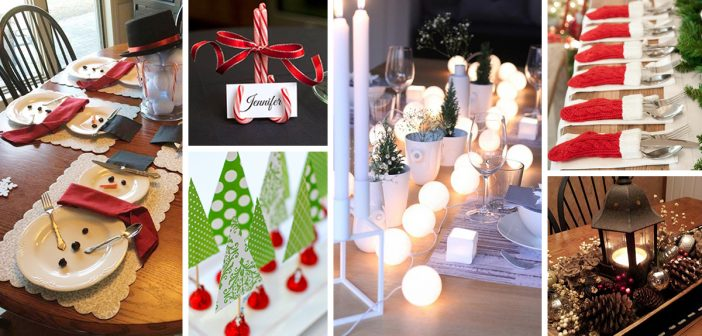 50 Best Diy Christmas Table Decoration Ideas For 2018