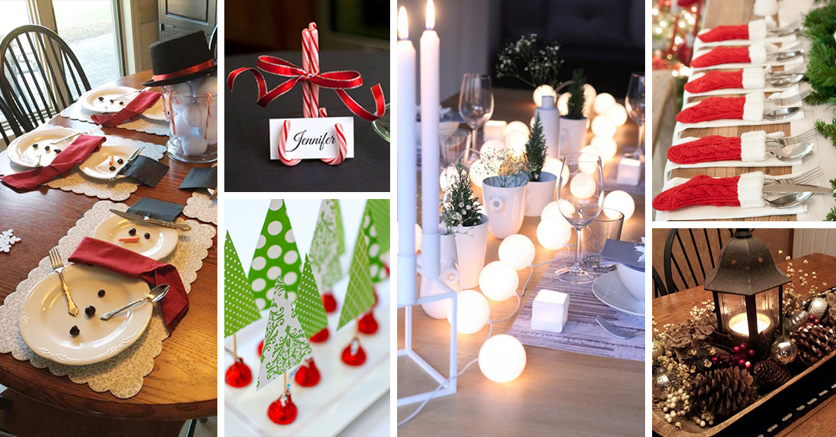 50 best diy christmas table decoration ideas for 2018 - Simple Christmas Table Decorations