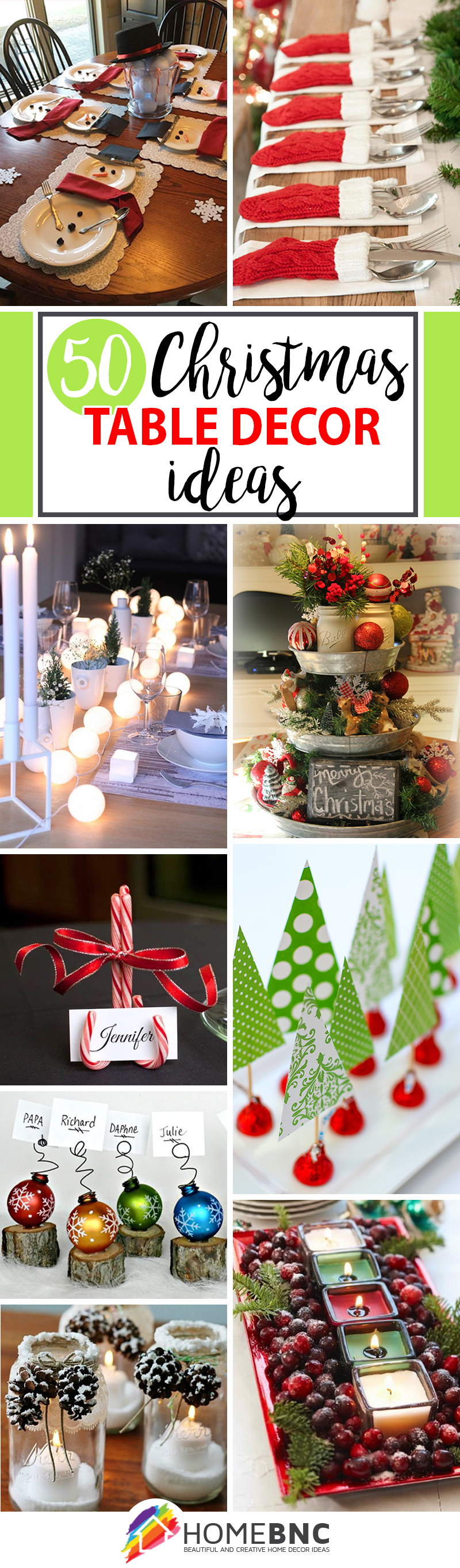 50 creative classy diy christmas table decoration ideas