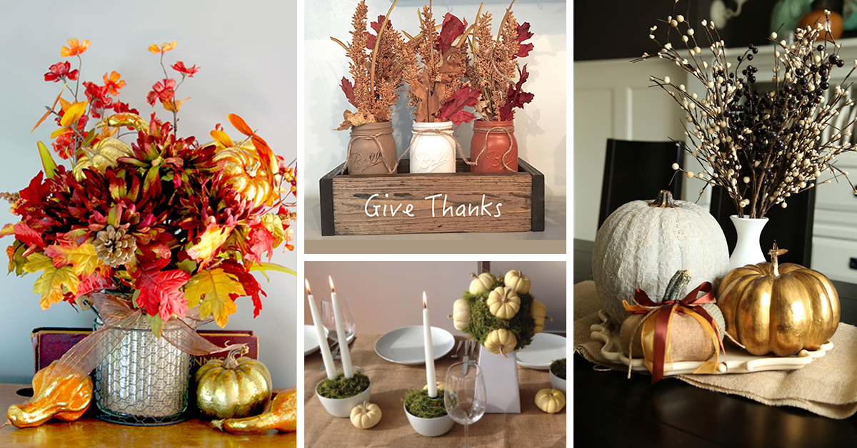Peachy 18 Best Diy Thanksgiving Centerpiece Ideas And Decorations Download Free Architecture Designs Viewormadebymaigaardcom