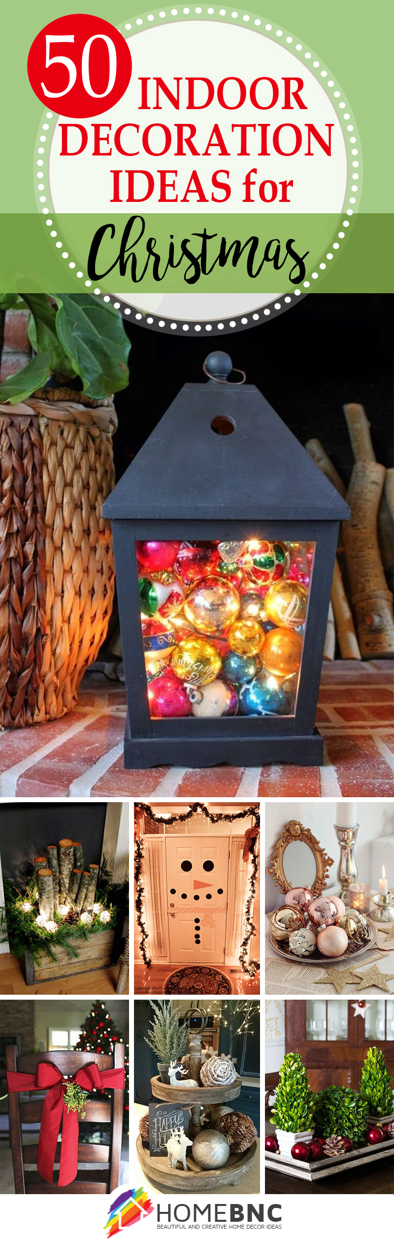 50 best indoor decoration ideas for christmas in 2017 for Pictures of indoor christmas decorations